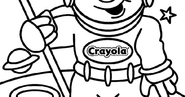 astronaut coloring page from Crayola (can cut out face so