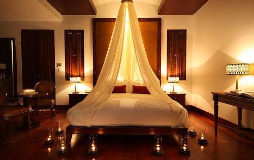 Romantic Bedroom Candle Light Canopy So Romantic Les Boudoirs Pinterest Romantic
