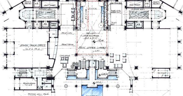 Work at WATG, Trump at Cap Cana, Hotel Lobby Plan by