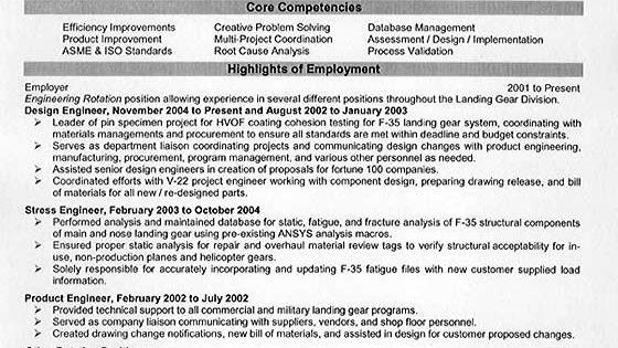 Mechanical Engineering Resume Example Resume Examples