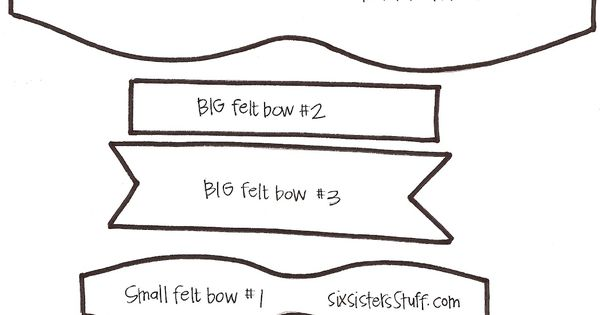 Six Sisters' Stuff: Felt Bow Hairbow Tutorial (and free