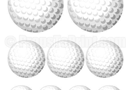 Printable golf ball photo booth prop. Create DIY props