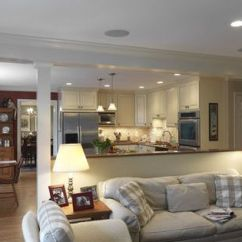Open Plan Kitchen Living Room Flooring Ideas Red Curtains Options For Taking Down A Load Bearing Wall | Dc Metro ...