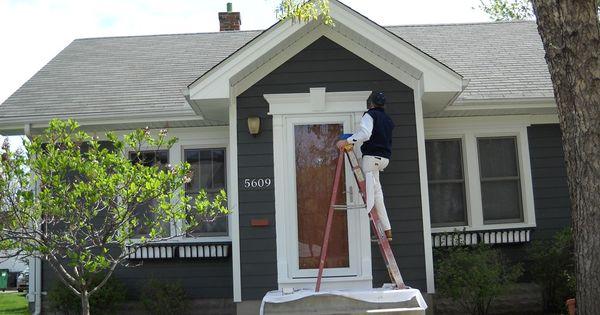 With Red Burgundy Cranberry Front Door Darker Grey Paint