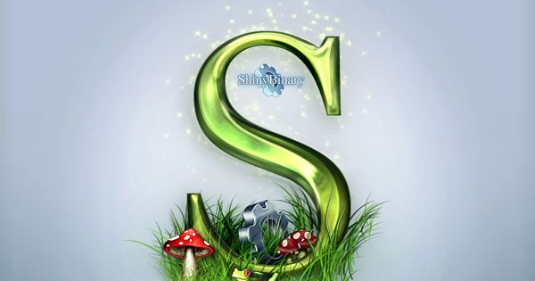 Letter S 3d Wallpaper Letter S Written In 3d And Surrounded By A Small Patch Of