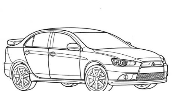 Evo 8 Coloring Pages Sketch Coloring Page