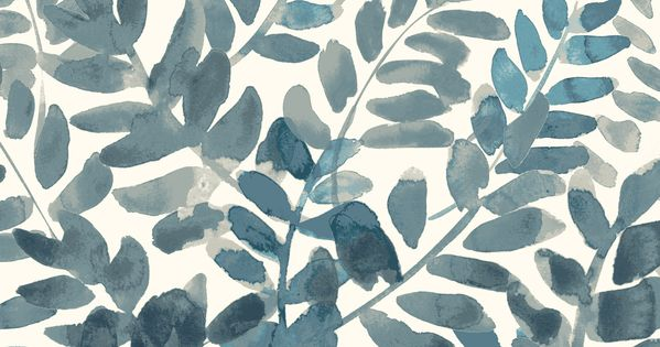 west elm  Watercolor Fern Mobile iPhone Wallpaper