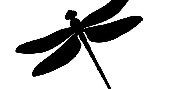 dragonfly silhouette vector clipart
