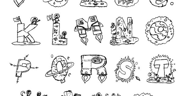 Space printable bubble letters are perfect for school