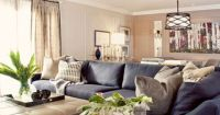 Modern Navy Blue Sectional Sofa Design Ideas, Pictures ...