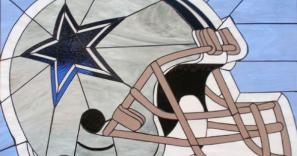 Dallas Cowboys Helmet  Sports  Stained Glass  Pinterest