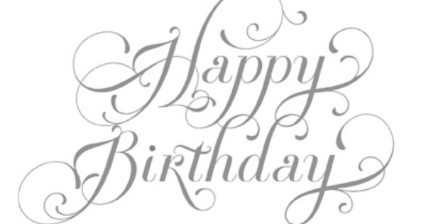 Stampin' Up! Happy Birthday stamp. Comes in Wood-Mount for