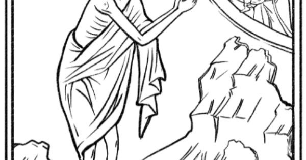 Coloring page and craft suggestion for St. Mary of Egypt