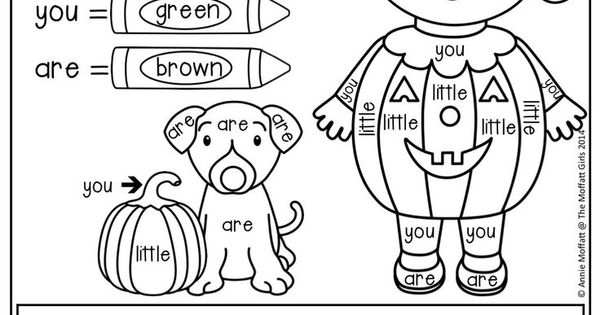 Color by Sight Word and make a Sight Word Sentence! Write