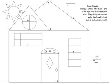 Angles worksheet: Acute, Obtuse, Right-