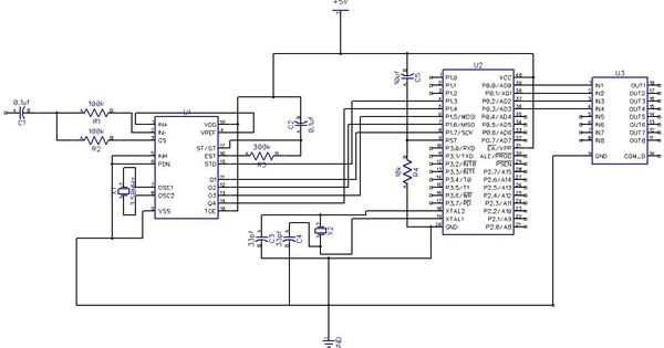 Home appliance control by mobile phone Circuit Diagram