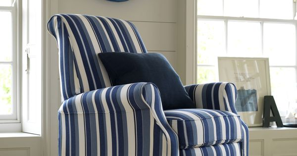 blue recliner chair rattan peacock for sale multiyork ambleside in myk henley regatta stripe fabric, also available as a ...