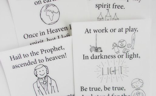 A Lively Hope: 2016 LDS Primary Outline Flipcharts to