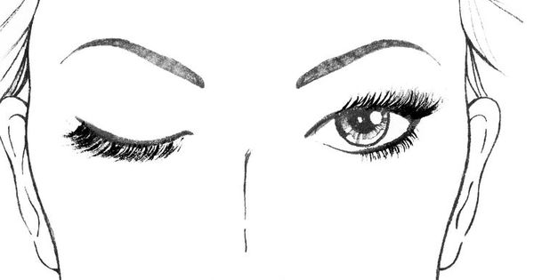 Mary Kay Makeup Face Sheets Sketch Coloring Page