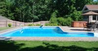 Another L-shaped pool design with pavers. | Outdoor Living ...