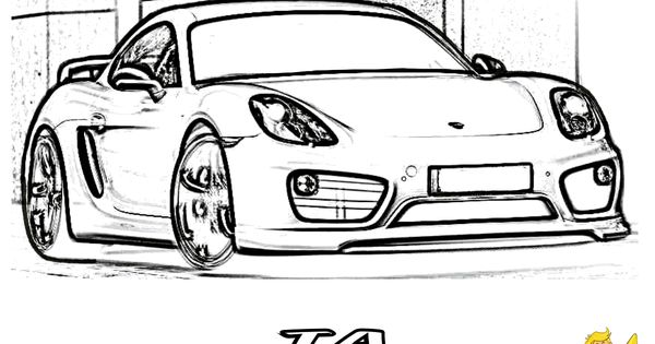Incredible Car Coloring Pages! Porsche Cayman TA Wide Body