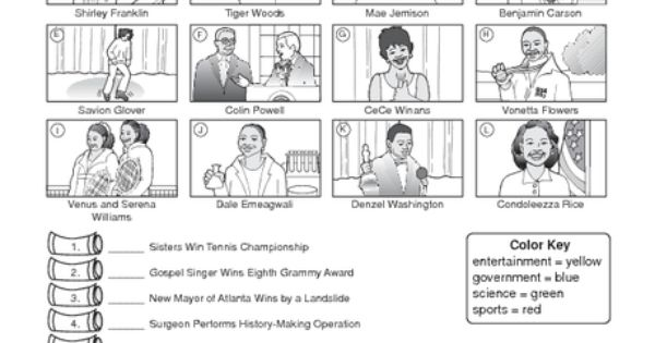 Black History Month Worksheet: famous African Americans