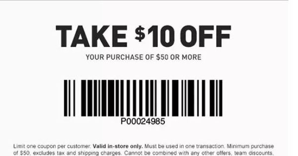 Dicks Sporting Goods Coupon: $10 off $50 Purchase (In