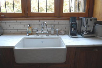 Beneath The Casements Is A Rohl Shaws Single Bowl Fireclay