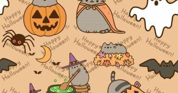Pusheen Fall Wallpaper Pusheen Halloween Cute Y Kawaii Pinterest Pusheen