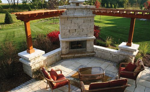 simple front lawn crushed granite