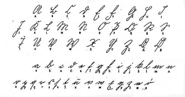 Gotisk alfabet, 1800, haandskrift. from The Danish State
