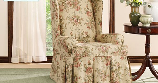 Bridgewater Floral Waverly by Sure Fit Wing Chair