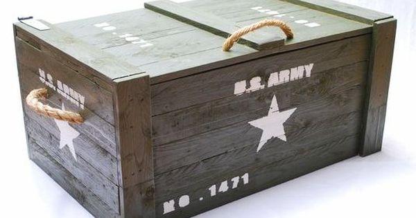 Leger kist US Army voor slaapkamer  Wonen  Pinterest