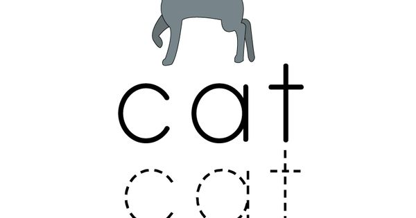Learn and practice how to spell the word cat using this