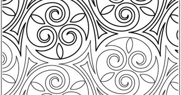 Celtic Curlz quilting pantograph pattern by Patricia
