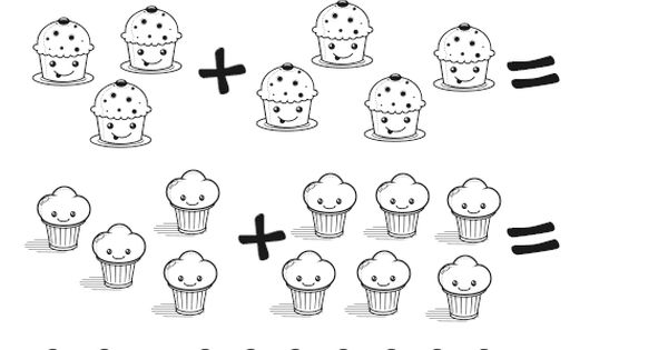 Ficha para aprender a sumar con dibujitos de postres: http