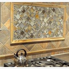 Brick Backsplash In Kitchen Faucets Glazzio Glass And Slate - A Clever Idea For Focal Point ...