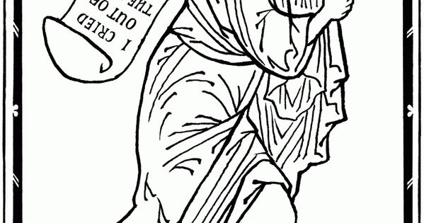 Prophet Jonah, pen and ink, by Scott Patrick O'Rourke