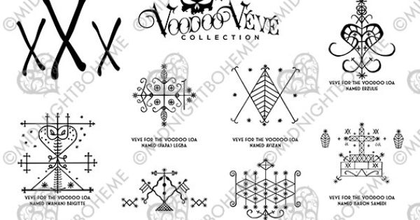 Louisiana New Orleans Voodoo Veve Symbols for Scrapbooking