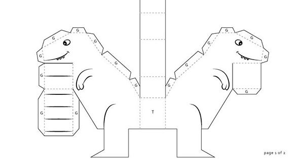 Free Dinosaur Paper printable. Dowload template. Just