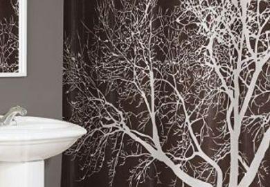 Tree Shower Curtain Chocolate Target