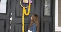 """Decoration / Creative idea / To do: Braided """"hair"""" door ..."""