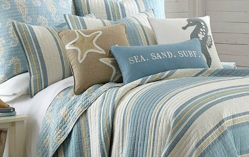 Sea Sand Surf Coastal Bedding httpwwwcompletelycoastalcom201607beachdecorhtml Sandy