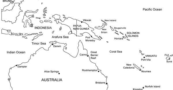 Austalia, Oceania, printable blank printable map, royalty