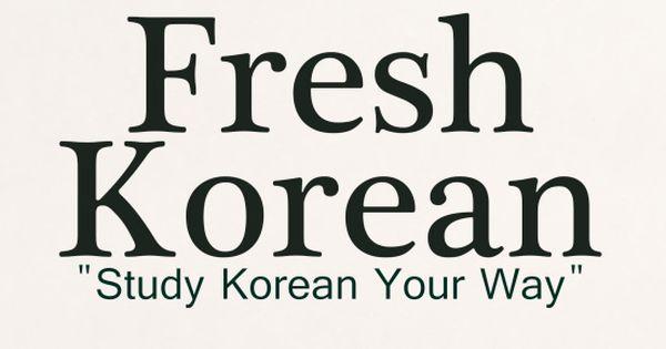 Free Korean Language Lessons And Printables