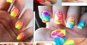 bright neon nail art design