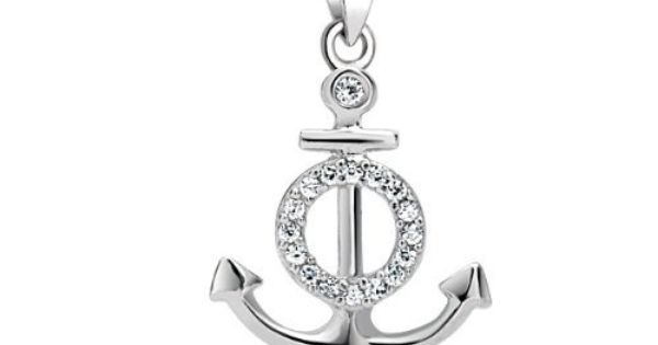 Bling Jewelry Pave Cubic Zirconia Nautical Anchor Pendant