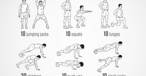 No-equipment body-weight workout for starting your morning