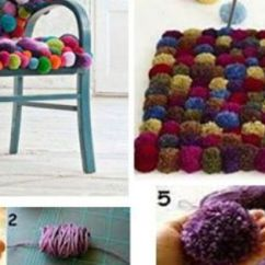 Cool Chairs For Dorm Rooms Unusual Tub Chair Puff Ball Rug And Diy | Craft Ideas Pinterest Craft, Tutorials Crochet