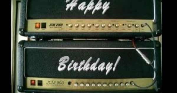 Happy Birthday In Marshall Guitar Amp Heads Style #DdO
